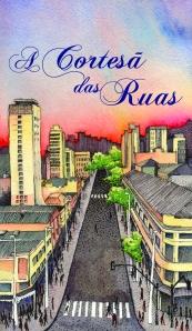 """Capa do livro """"A Cortesã das ruas"""". Ilustração por Fernanda Lhama"""